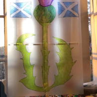 Celebrating-St-Andrews-Day-by-creating-are-very-own-stained-glass-window.