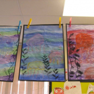 Inspired-by-the-story-Somebody-swalloed-Stanley-we-created-pastel-and-water-colour-pictures-of-jellyfish-6