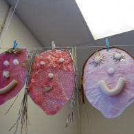 Self-portraits-using-recycled-materials